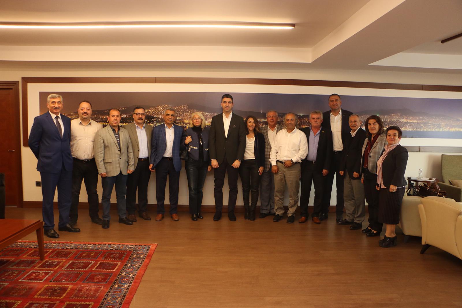 Yeni seçilen Kartal Kent Konseyi'nden Başkan Gökhan Yüksel'e ziyaret