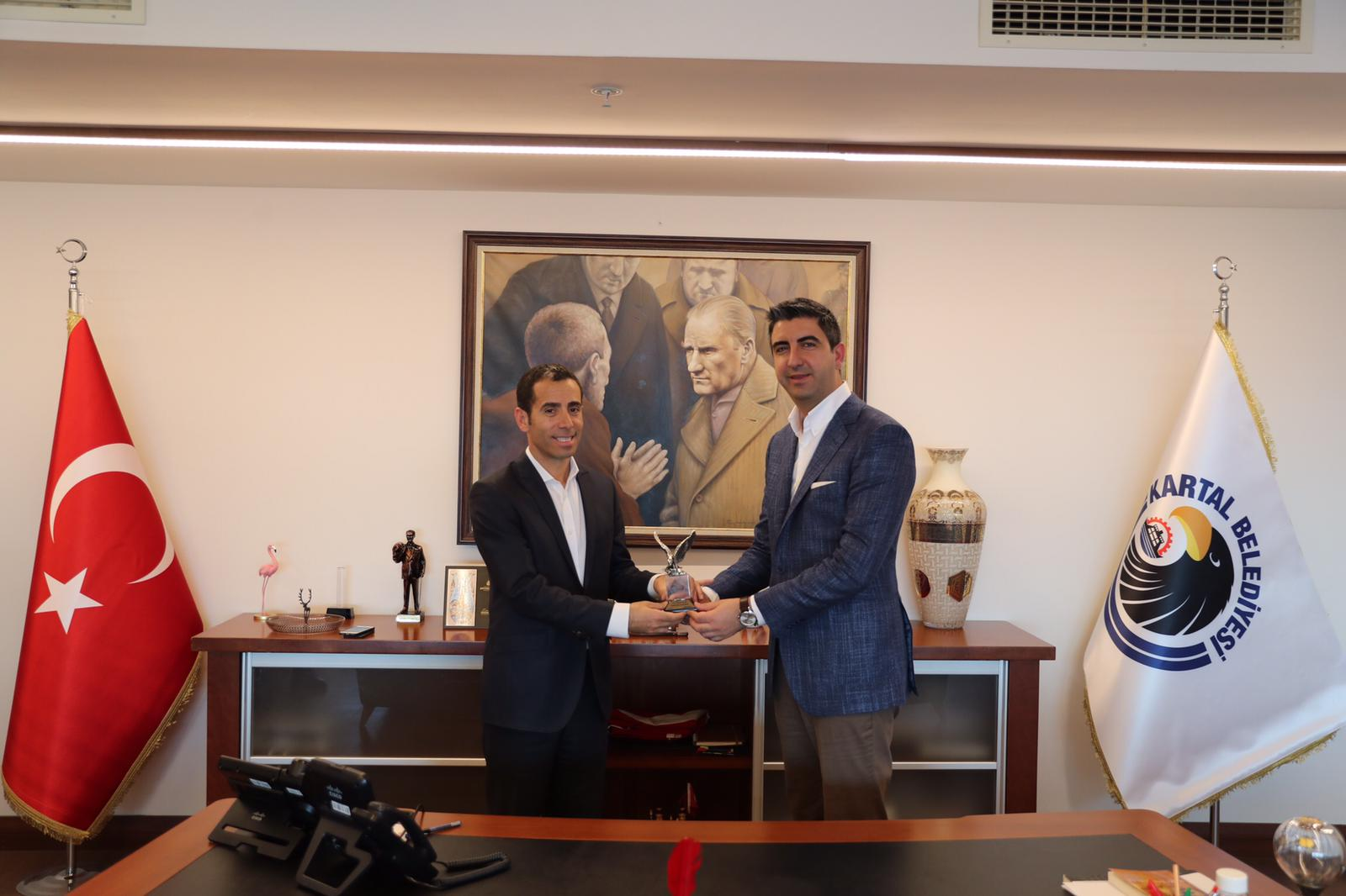 İlçe Emniyet Müdürü Feramüz Çetin'den Başkan Gökhan Yüksel'e iade-i ziyaret